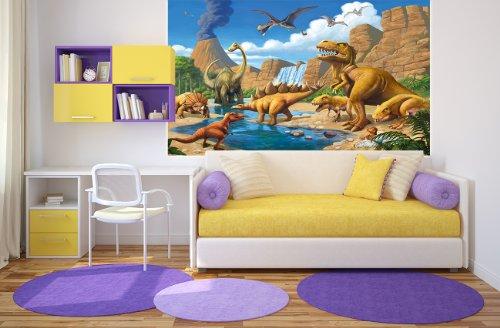 Fotomurales camera bambini avventure dinosauri