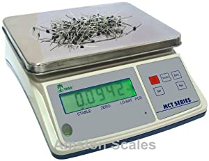 33 LB x 0.001 LB / 15 KG x 0.5 Gram Medium (10 x 7.5 Inch Tray) Counting Scale Coin Parts Inventory Paper Piece