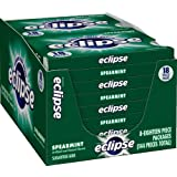 Eclipse Sugar Free Gum, Spearmint, 18 Piece Packages (Pack of 8)