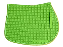 Double Side Quilted All Purpose Saddle Pad, Neon Lime Green [Misc.] [Misc.]
