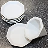 風水で吉とされる八角形 八角盛り塩セット(八角素焼き皿5枚+盛塩固め器) 小サイズ
