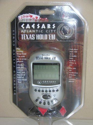 Caesars Atlantic City Texas Hold 'Em Electronic Handheld Game by ExCaibur Electronics