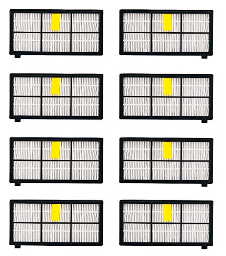 I-clean Replacement Filter for iRobot Roomba 880 870 800 980 HEPA Filter**[8PCS] **Vacuum Cleaners Filters Kits (I Robot Roomba Accessories compare prices)