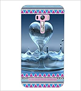 PrintDhaba Water Heart D-4094 Back Case Cover for ASUS ZENFONE SELFIE ZD551KL (Multi-Coloured)