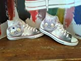 Converse Custom second hand printed Italian style cat eyes