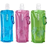 Vapur Anti-bottle Set of 3 0.5 Litres Each - True Green - Blue - Pink