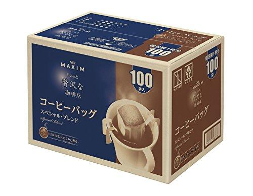 マキシム ちょっと贅沢な珈琲店 レギュラーコーヒー コーヒーバッグ スペシャルブレンド 100P