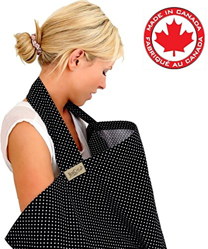 BebeChicCanada-High-Quality-100-Cotton-Breastfeeding-Covers-Boned-Nursing-Tops-tiny-black-white-dot-Stylish-Spotty