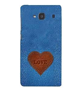 EPICCASE Jean heart Mobile Back Case Cover For Mi Redmi 2 (Designer Case)