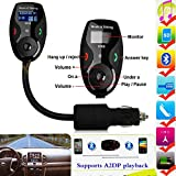 [New Model FM Transmitter] BenGoo Bluetooth Wireless FM Transmitter Modulator Radio Adapter Handsfree Car Kit with Univeral LCD/Hands-Free Calling/Music Control/Mic and Charging Port for iPhone 6Plus iPhone 6 iPhone 5S 5C 4S 4 iPod and Galaxy S5 S4 Note 4