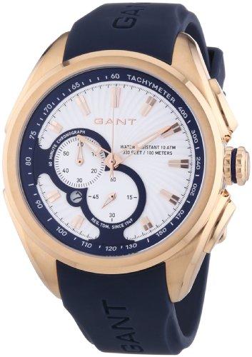 Gant  Milford - Reloj de cuarzo para mujer, con correa de plástico, color azul