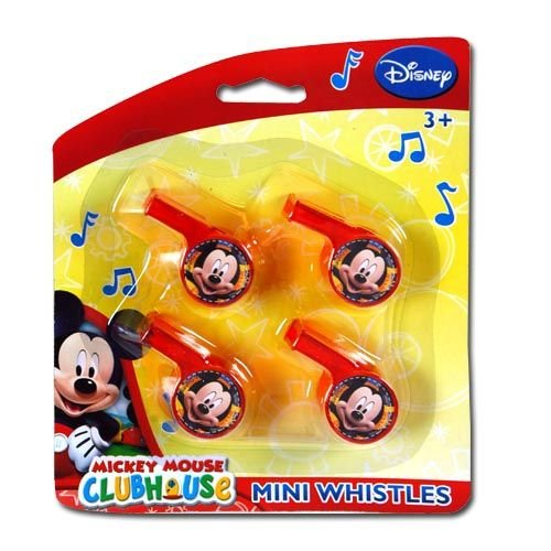 Disney Mickey 4pk Mini Whistle