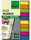 Sigel HN617 Haftmarker Film, micro, 400 Streifen, 2x5 Farben im Pocket, grün, blau, pink, gelb, orange, Streifenformat: 50 mm x 6 mm