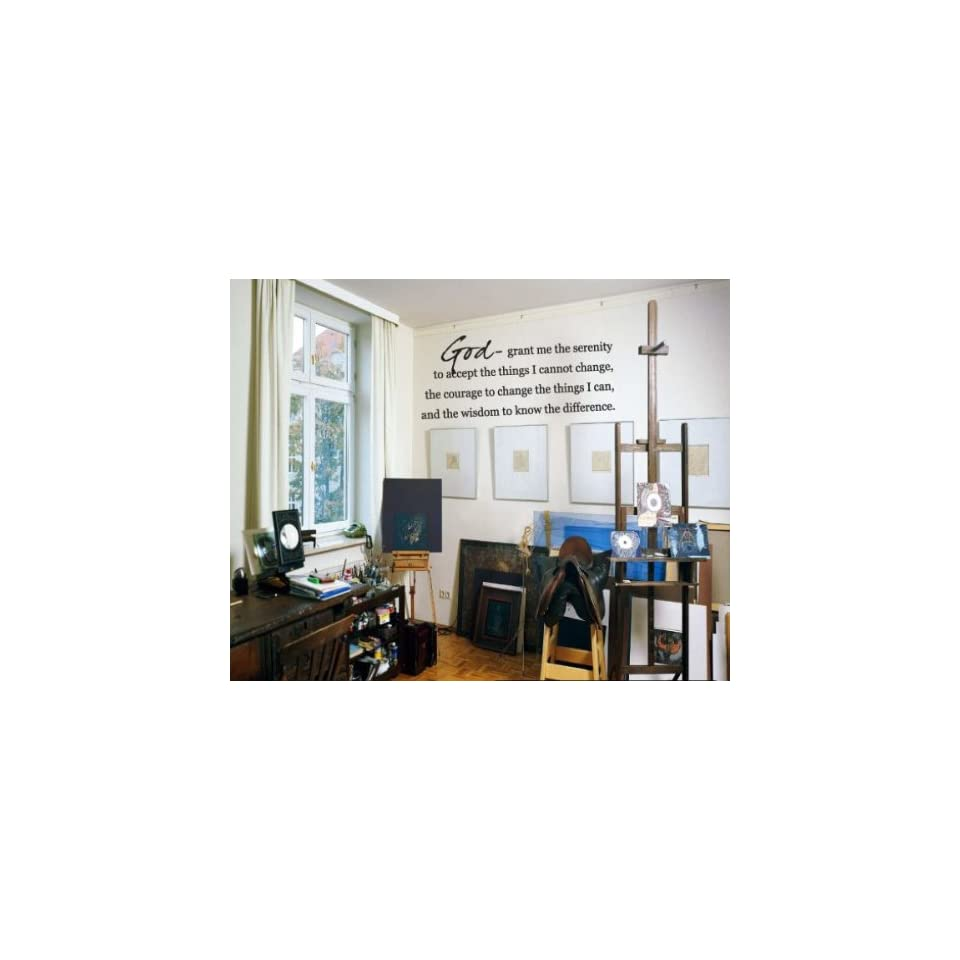 God  Grant Me the Serenity to Accept the Things I Cannot Changevinyl Decal Wall Sticker Mural