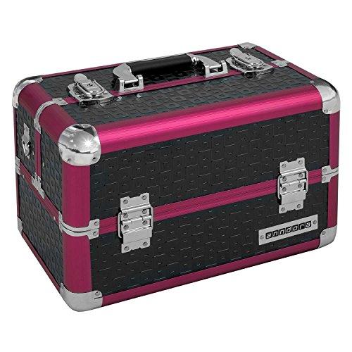 anndora-beauty-case-kosmetikkoffer-schminkkoffer-werkzeugkoffer-schwarz-rot-karo