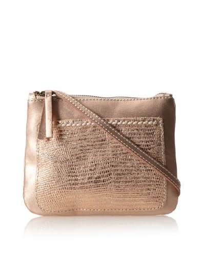 49 Square Miles Women's Day Tripper Lizard Mini Bag, Rose Gold