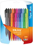 Paper Mate Inkjoy 100RT Retractable Ballpoint Pen, Medium, Fashion Colors, Set of 20 (1879331)
