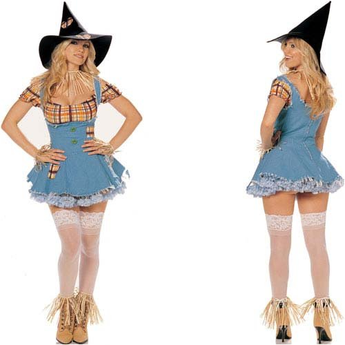 Smart And Sexy Scarecrow Holiday Party Costume