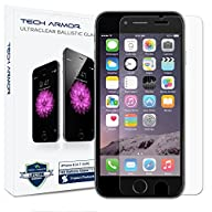 iPhone 6S Screen Protector, Tech Armor Apple iPhone 6 (4.7 inch ONLY) HD Clear Ballistic Glass…