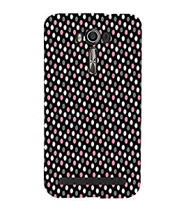 Brownish Pink Dotted Cute Fashion 3D Hard Polycarbonate Designer Back Case Cover for Asus Zenfone 2 Laser ZE500KL (5 INCHES)
