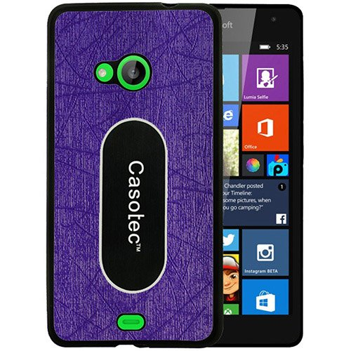Casotec Metal Back TPU Back Case Cover for Microsoft Lumia 535 - Purple  available at amazon for Rs.149