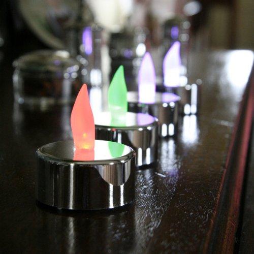 LED batteriebetriebene farbwechselnde Teelichter - 4 Stück