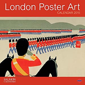 London Poster Art Large Wall Calendar 2015