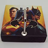 Agility Bathroom Wall Hanger Hat Bag Key Adhesive Wood Hook Vintage Batman & Superman's Photo