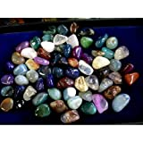 TUMBLED SEMI-PRECIOUS GEMSTONES...A GREAT MIX...75 STONE ASSORTMENT ..SM/MED SIZE 1/2-3/4 Stones carefully picked to minimize any junk= just nice stones