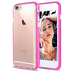 iPhone 6S plus Case,iPhone 6 plus Case,[5.5inch] by Ailun,Injected&Sealed Bumper,Ultra Clear,Shock-Absorption,Anti-Scratch&Fingerprint Back Cover,Siania Retail Package[Rose]