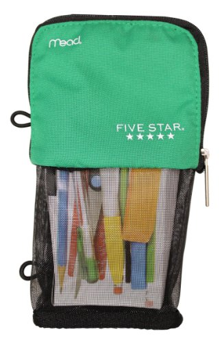 Mead Stand 'N Store Five Star Pencil Pouch | Green