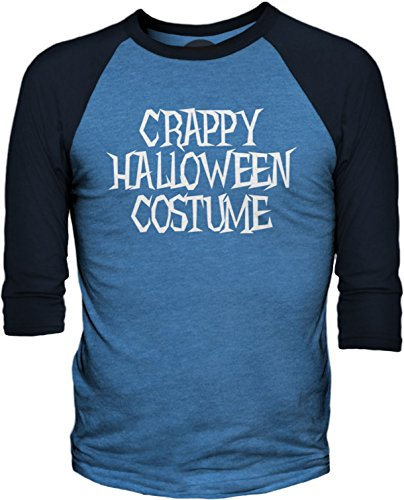 Big Texas Crappy Halloween Costume (White) 3/4-Sleeve Baseball T-Shirt