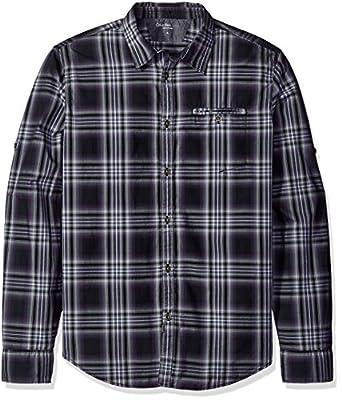 Calvin Klein Jeans Men's Vintage Violet Check Roll Tab Long Sleeve Button Down Shirt