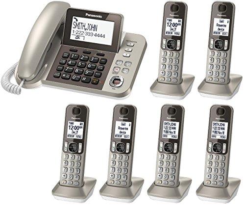 Panasonic KX-TGF353N plus three KX-TGFA30N handsets DECT 6.0 Plus Corded / Cordless 6-Handset Landline Telephone System (KX-TGF353N+3, KX-TGF352N+4, KX-TGF350N+5) (Certified Refurbished) (Panasonic Dect 6 Plus compare prices)