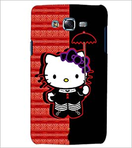 PrintDhaba Kitty D-4937 Back Case Cover for SAMSUNG GALAXY ON 7 (Multi-Coloured)
