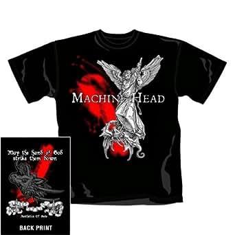 Warner Music Shirts 'Machine Head 'HAND OF GOD' Herren Shirts/ T-Shirts, Gr. 46/48 (M), Schwarz (Schwarz)