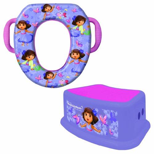 Nickelodeon Soft Potty and Step Stool Combo Set, Dora the Explorer