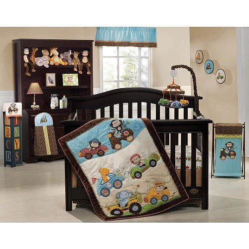 Kids Line Road Rally 7-Piece Crib Bedding Set - 1