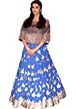 Kenil Fabrics blue georgette designer collection bollywood style designer lehenga choli/heavy embroidered lehenga choli/partywear lehenga choli for women ...