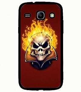 ColourCraft Burning Skull Design Back Case Cover for SAMSUNG GALAXY CORE I8262 / I8260