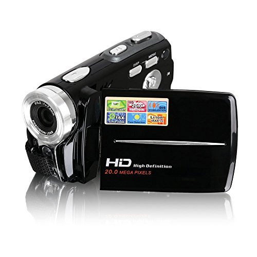 Camcorders, Besteker Portable HD Max 20.0 Mega Pixels 1280*720P Digital Video Camcorder Camera DV 3.0 Inches TFT LCD Screen 16x Digital Zoom with Microspur Recording for Amateurs and Kids (Black)