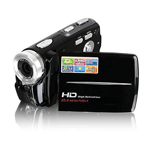 Camcorder, Besteker tragbare HD Max 20,0 Megapixel 1280 * 720P Digital Video Camcorder DV-Kamera 3,0 Zoll TFT-LCD-Bildschirm 16x Digital-Zoom mit micro Aufnahme für Amateure und Kinder (Schwarz)