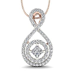 Stylori 18k Rose Gold and Diamond Candid Journey Pendant