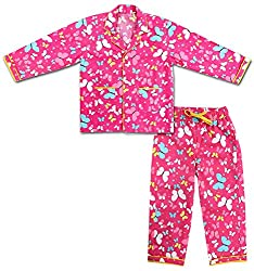 ShopMozo - Cotton Pink Printed Boys Night Suit ( Boys Night Dress ) (SM-00151BOYSSST_Pink_2-3 Years)