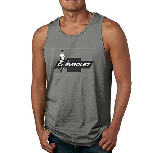 EVALY Men's Fashion Chevrolet Hot Lady Chevy Logo Tank DeepHeather Size L (Bose Silverado Speakers compare prices)