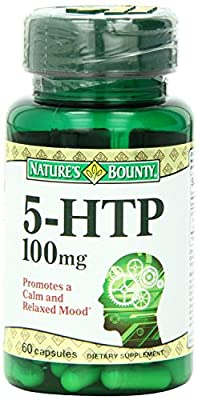 Nature's Bounty Natural 5-HTP/L-5-Hydroxytryptophan, 100mg, 60 Capsules