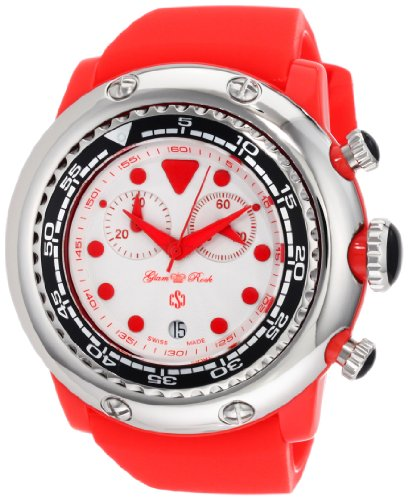 Glam Rock GR20129 - Reloj de pulsera mujer, color rojo