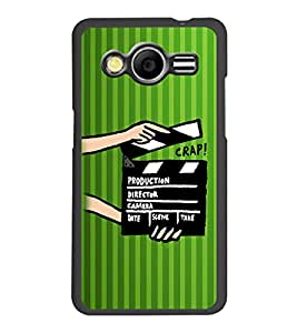 PrintDhaba Shot Takes D-2607 Back Case Cover for SAMSUNG GALAXY CORE 2 G355H (Multi-Coloured)