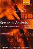 Semantic Analysis: A Practical Introduction (Oxford Textbooks in Linguistics)