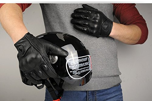 Size L Retro Motorcycle racing gloves Motocross Waterproof Moto full finger glove Windproof leather Touch gloves 3